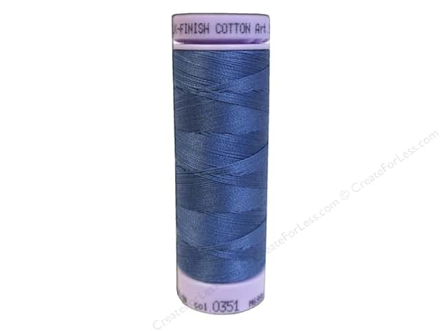 Mettler Silk Finish Cotton Thread 50 wt. 164 yd. #0351 Smoky Blue
