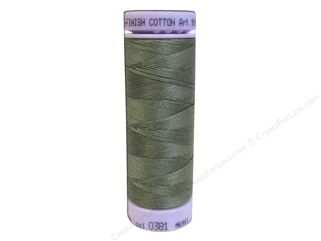 Mettler Silk Finish Cotton Thread 50 wt. 164 yd. #0381 Sage