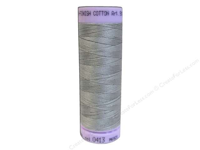 Mettler Silk Finish Cotton Thread 50 wt. 164 yd. #0413 Titan Gray