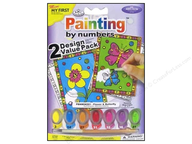 Royal Paint By Number Kit Flower & Butterfly