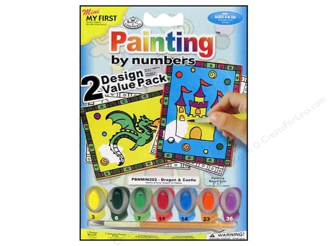 Royal Paint By Number Kit Dragon & Castle