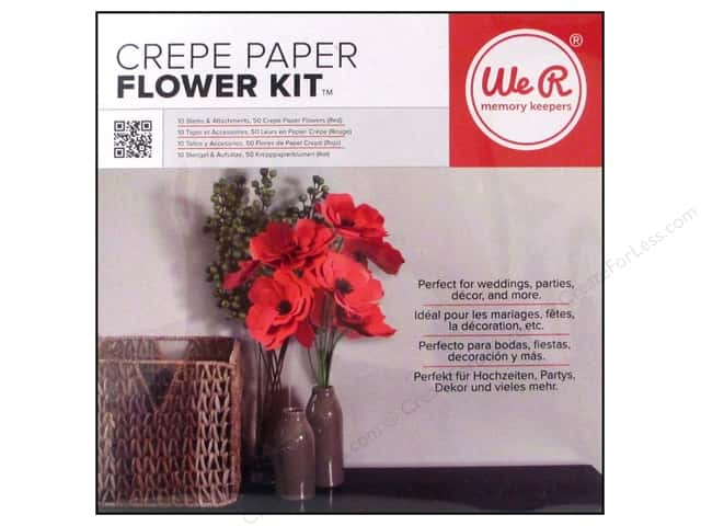 We R Memory Keepers Crepe Paper Flower Kit Red