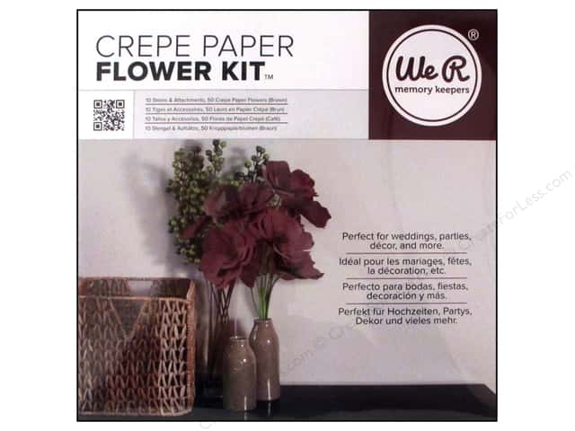We R Memory Keepers Crepe Paper Flower Kit Brown