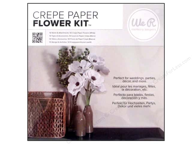 We R Memory Kits Crepe Paper Flowers White