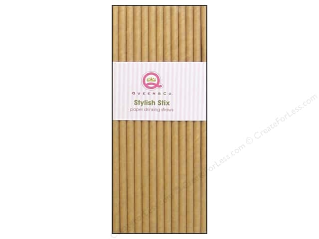 Queen&Co Stylish Stix Plain Kraft 25pc