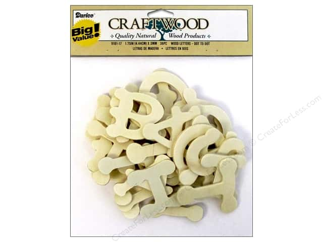 Darice Wood Craftwood Letters Dot to Dot 1 3/4 in. 36 pc.