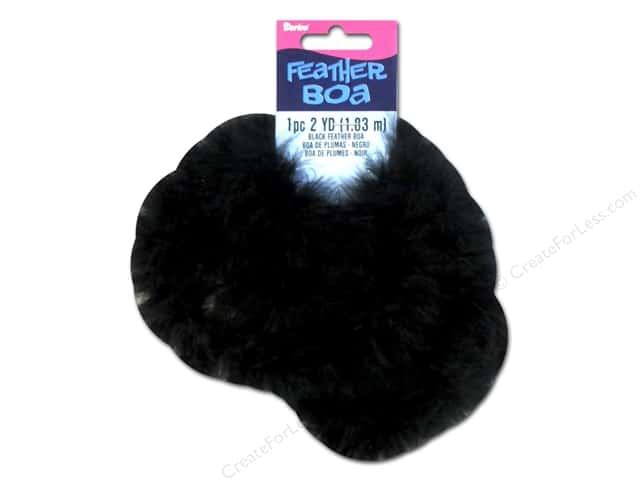 Darice Marabou Feather Boa 2 yd. Black