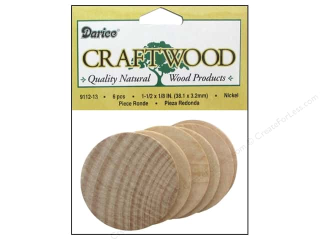 Darice Wood Craftwood Nickel 1 1/2 x 1/8 in. 6 pc.