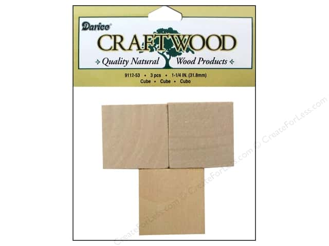 Darice Wood Craftwood Cube 1 1/4 in. 3 pc.