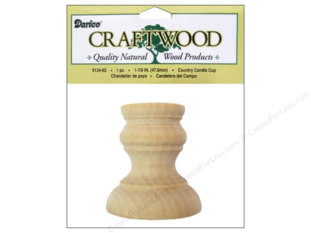 Darice Wood Craftwood Country Candle Cup 1 7/8 in.