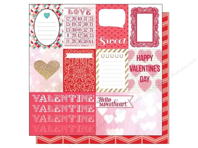 Echo Park 12 x 12 in. Paper Lucky In Love Journaling Card (25 sheets)