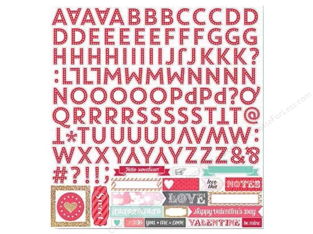 Echo Park Alphabet Stickers 12 x 12 in. Lucky In Love (15 sets)
