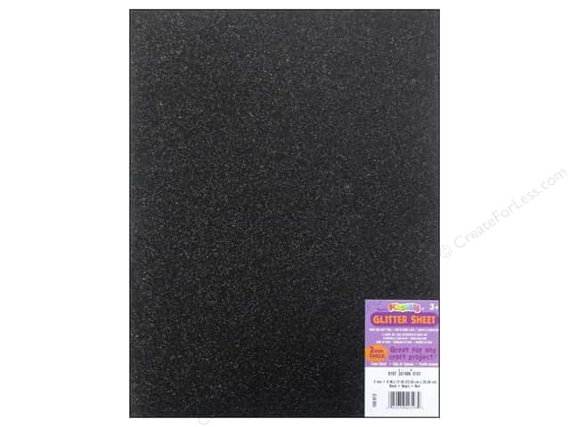 Foamies Foam Sheet 9 x 12 in. 2 mm. Glitter Black