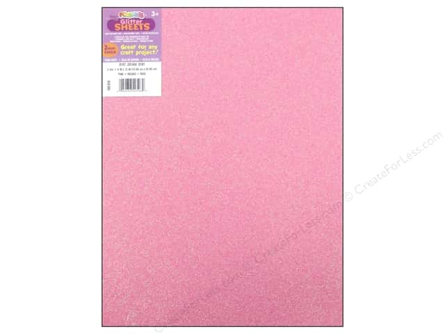 Foamies Foam Sheet 9 x 12 in. 2 mm. Glitter Pink
