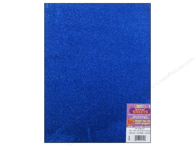 Foamies Foam Sheet 9 x 12 in. 2 mm. Glitter Royal Blue