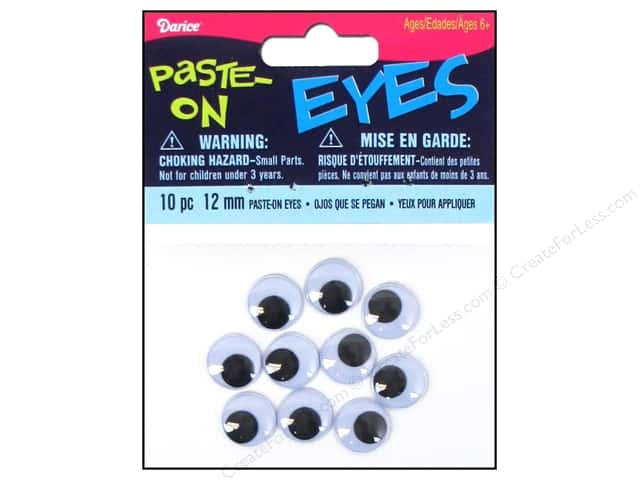 Darice Googly Eyes Paste-On 12 mm Black 10 pc.