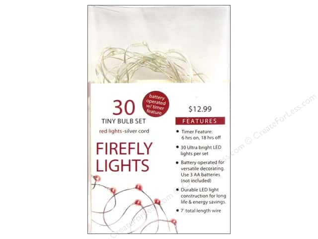 Sierra Pacific Lights Firefly LED 30 ct Red/Silver Cord
