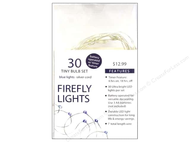 Sierra Pacific Lights Firefly LED 30 ct Blue/Silver Cord