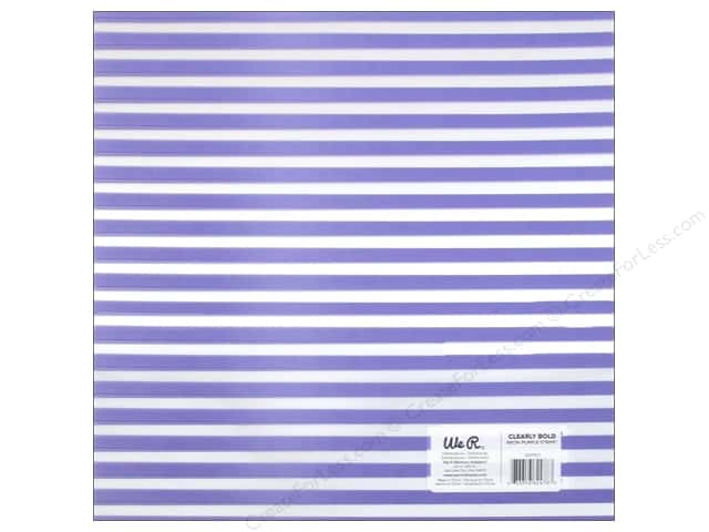We R Memory Keepers Acetate Sheet 12 x 12 in. Clearly Bold Neon Purple Stripe (12 sheets)