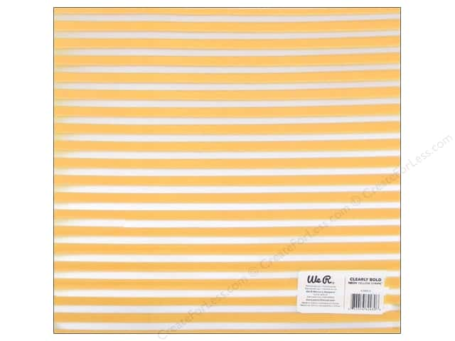 We R Memory Keepers Acetate Sheet 12 x 12 in. Clearly Bold Neon Yellow Stripe (12 sheets)