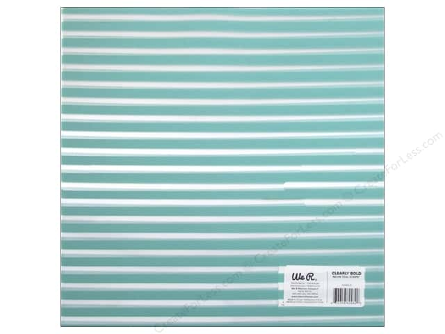 We R Memory Keepers Acetate Sheet 12 x 12 in. Clearly Bold Neon Teal Stripe (12 sheets)