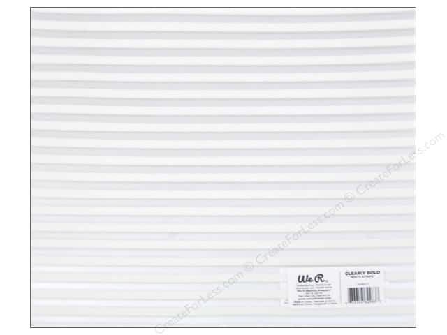 We R Memory Keepers Acetate Sheet 12 x 12 in. Clearly Bold White Stripe (12 sheets)