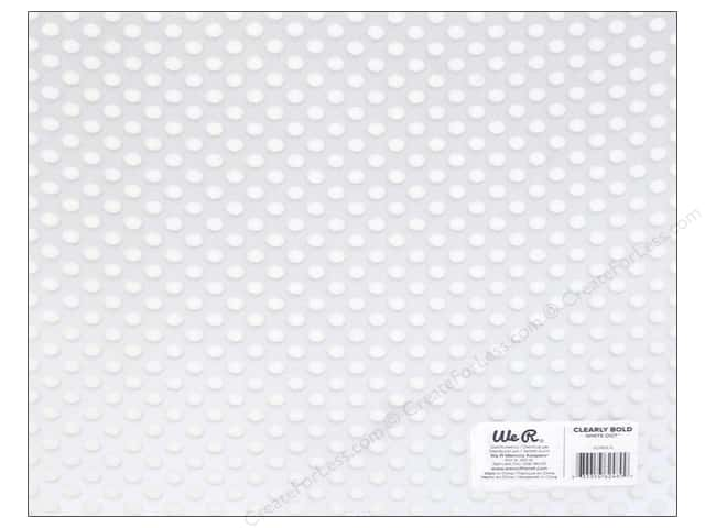 We R Memory Keepers Acetate Sheet 12 x 12 in. Clearly Bold White Dot (12 sheets)
