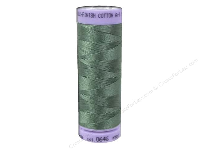 Mettler Silk Finish Cotton Thread 50 wt. 164 yd. #0646 Palm Leaf