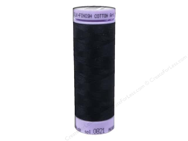 Mettler Silk Finish Cotton Thread 50 wt. 164 yd. #0821 Darkest Blue