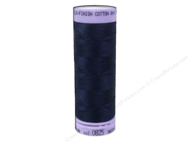 Mettler Silk Finish Cotton Thread 50 wt. 164 yd. #0825 Navy