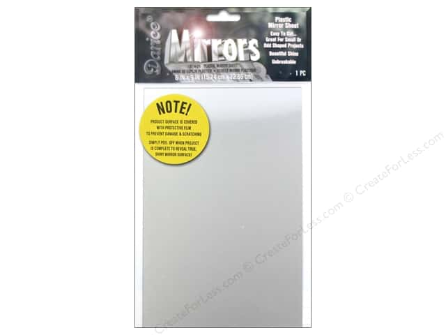 "Darice Mirrors Plastic Rectangle Sheet 6""x 9"""