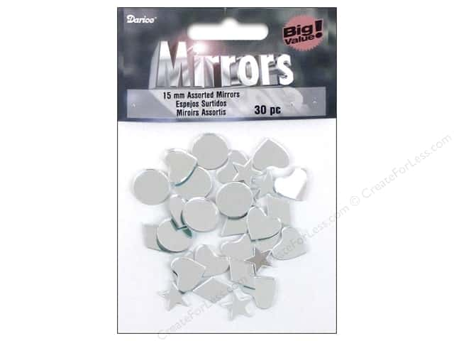 Darice Mirrors Acrylic Assorted Shapes 5/8 in. 30 pc.
