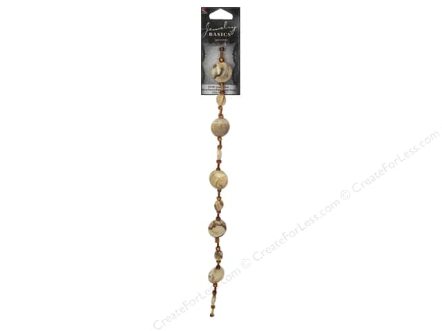 Cousin Basics Gemstone Bead Strand 9 1/4 in. Natural