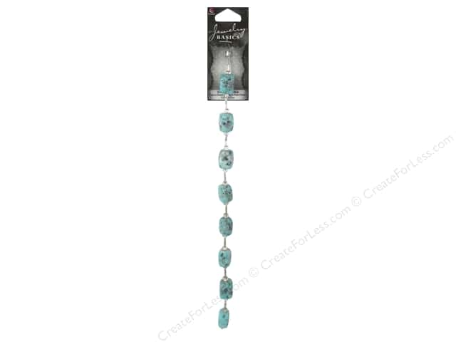 Cousin Basics Gemstone Bead Strand 9 1/4 in.Turquoise