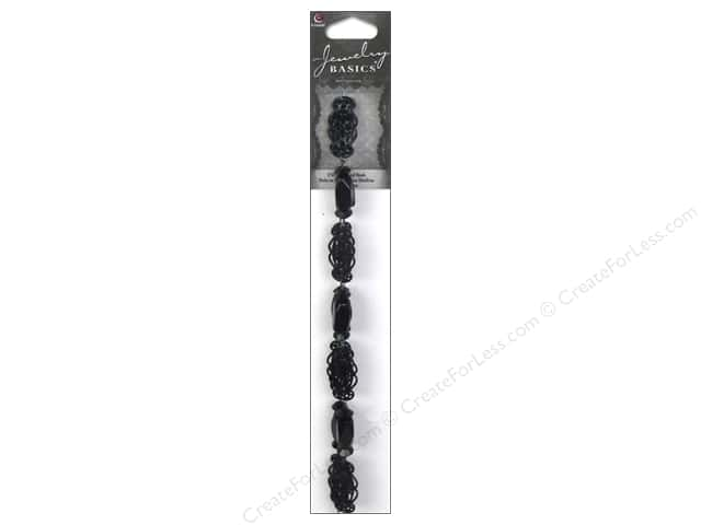 Cousin Basics Metal Beads 1 in. Filigree Connector Black