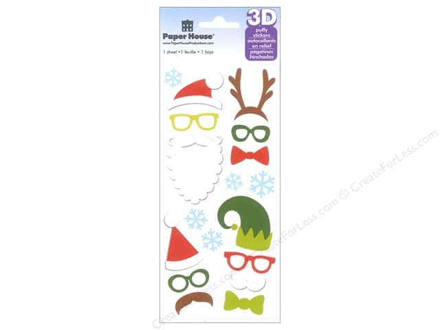 Paper House Sticker 3D Christmas Costumes