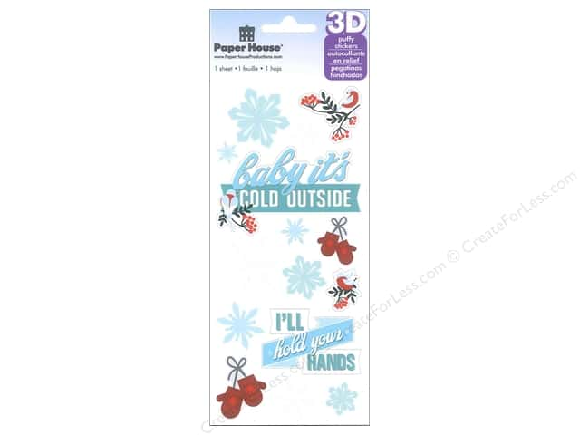 Paper House Sticker 3D Baby It's Cold Outside
