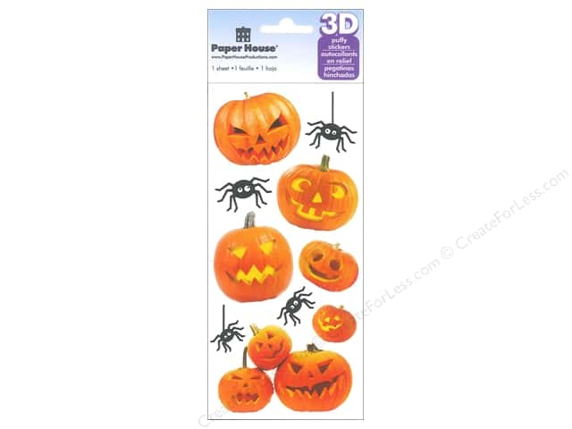 Paper House Sticker 3D Jack O' Lanterns