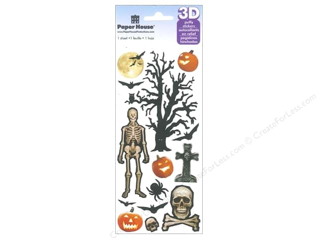 Paper House Sticker 3D Puffy Spooky Halloween