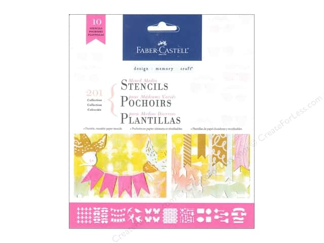 FaberCastell Mixed Media Paper Stencils Motif