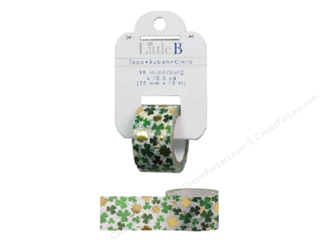 Little B Decorative Paper Tape 1 in. Gold Foil Shamrock