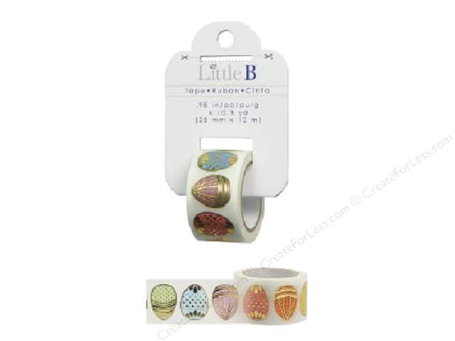 Little B Decorative Paper Tape 1 in. Gold Foil Easter Eggs