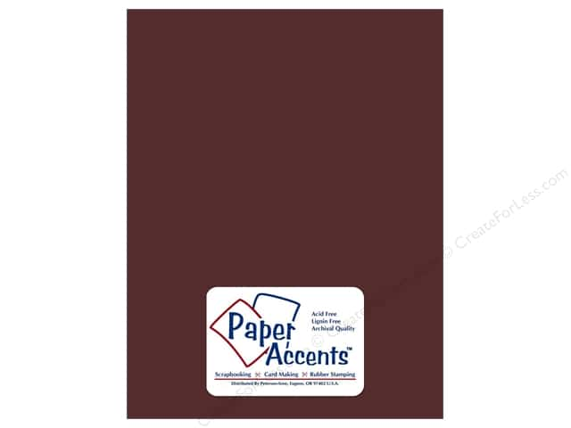 Cardstock 8 1/2 x 11 in. Smooth Merlot by Paper Accents (25 sheets)