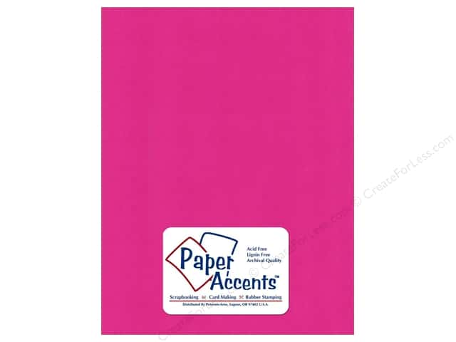 Cardstock 8 1/2 x 11 in. Smooth Raspberry by Paper Accents (25 sheets)