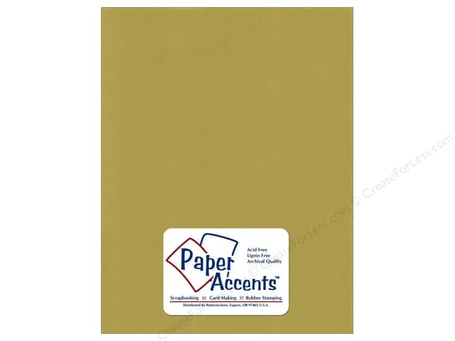 Cardstock 8 1/2 x 11 in. Smooth Light Olive by Paper Accents (25 sheets)