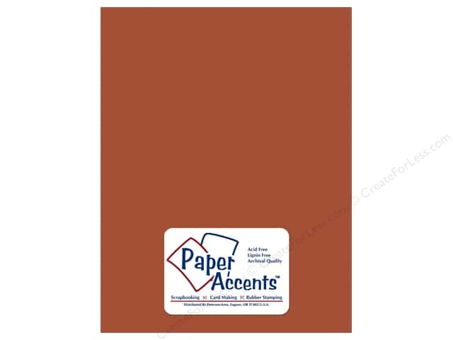 Cardstock 8 1/2 x 11 in. Smooth Cinnamon by Paper Accents (25 sheets)