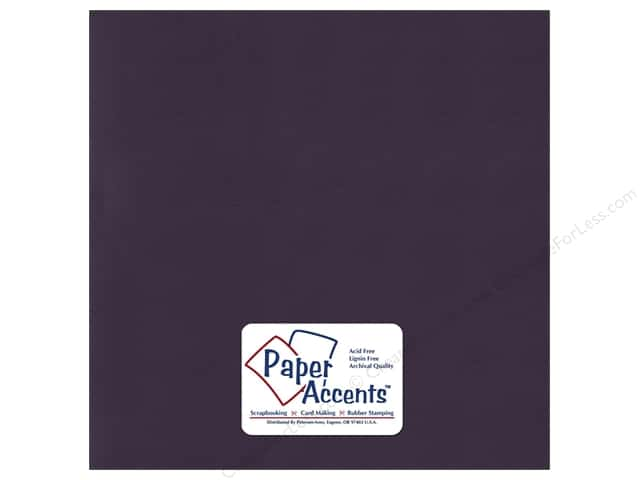 Paper Accents Cardstock 12 x 12 in. #61 Smooth Deep Purple (25 sheets)