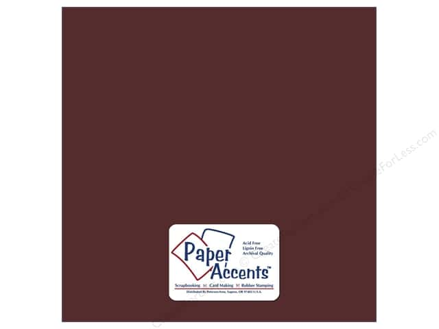 Cardstock 12 x 12 in. Smooth Merlot by Paper Accents (25 sheets)