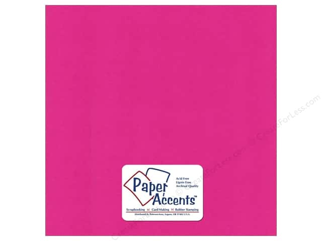 Paper Accents Cardstock 12 x 12 in. #6165 Smooth Raspberry (25 sheets)