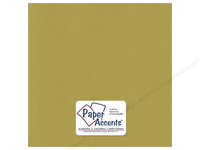 Paper Accents Cardstock 12 x 12 in. #6166 Smooth Light Olive (25 sheets)